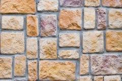 Estrutura contínua da força da pilha da estabilidade da parede de pedra Fotos de Stock