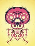 Estrutura cor-de-rosa do osso e do crânio Imagens de Stock Royalty Free