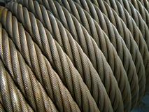 Estrutura: corda de fio/cabo de aço imagens de stock