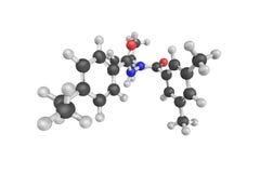 estrutura 3d de Tetrafluoromethane, igualmente conhecida como o tetrafl do carbono Fotografia de Stock Royalty Free
