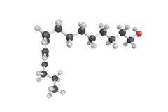 a estrutura 3d do bombykol, um feromônio liberou-se pelo sil fêmea Imagem de Stock