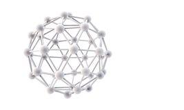 estrutura 3d molecular Foto de Stock