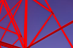 Estrutura da armação de aço Fotografia de Stock Royalty Free
