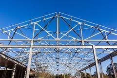Estrutura da armação de aço do telhado Foto de Stock