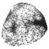 Estrutura da conexão Ilustração de Wireframe Foto de Stock Royalty Free