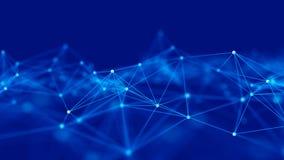 Estrutura da conex?o de rede Fundo da ci?ncia Fundo digital dos dados grandes rendi??o 3d ilustração stock