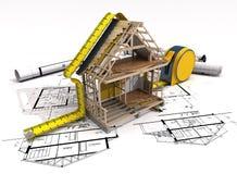 Estrutura da construção Imagens de Stock