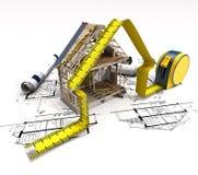 Estrutura da construção Fotografia de Stock Royalty Free
