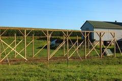 Estrutura da construção do celeiro de Amish imagem de stock royalty free