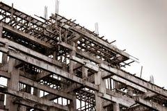 Estrutura da construção no tom do sepia fotos de stock royalty free