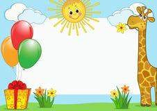 Estrutura da foto das crianças. Fotos de Stock Royalty Free