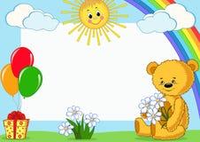 Estrutura da foto das crianças. Urso. Fotos de Stock Royalty Free