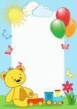 Estrutura da foto das crianças. Urso. Imagem de Stock Royalty Free