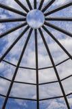 Estrutura da madeira da cúpula fotografia de stock