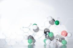 Estrutura da molécula do ADN do átomo da ciência imagem de stock