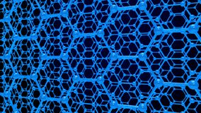 Estrutura da molécula no fundo azul 3d rendem ilustração royalty free