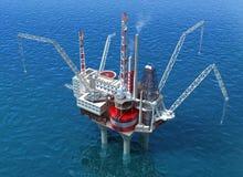 Estrutura da perfuração da plataforma petrolífera do mar ilustração do vetor
