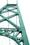 Estrutura da ponte no fundo branco fotografia de stock royalty free