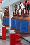 Estrutura de Bell em um templo do wat Foto de Stock