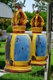 Estrutura de Bell em um templo Tailândia Ang Thong do wat Fotos de Stock Royalty Free