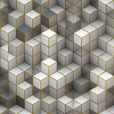 Estrutura de construção dos cubos. Fundos abstratos da arquitetura Fotos de Stock Royalty Free