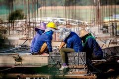 Estrutura de construção dura do funcionamento Imagens de Stock