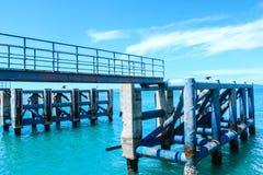 Estrutura de construção no porto de Koh Phangan, Surat Thani Foto de Stock