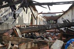Estrutura de construção queimada Fotografia de Stock Royalty Free