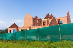 Estrutura de construção de casas incompleta Fotografia de Stock Royalty Free