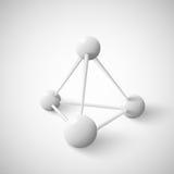 Estrutura de dados geométrica abstrata da pirâmide do objeto Imagens de Stock Royalty Free
