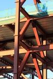 Estrutura de edifício de aço Imagens de Stock Royalty Free