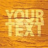 Estrutura de madeira com placeholder do texto imagem de stock