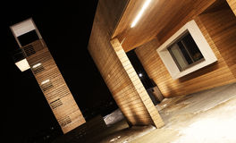 Estrutura de madeira ecológica foto de stock