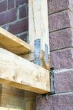 Estrutura de madeira recolhida Imagens de Stock