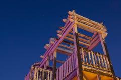Estrutura de madeira resistida foto de stock
