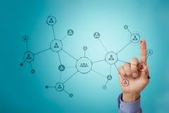 Estrutura de organização Rede do social do ` s dos povos Conceito do negócio e da tecnologia fotografia de stock royalty free