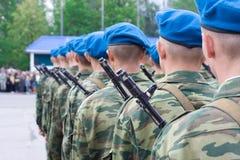 A estrutura de paramilitares do russo Imagens de Stock
