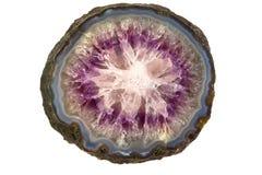 Estrutura de pedra Amethyst Fotografia de Stock Royalty Free