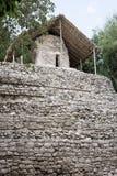 Estrutura de pedra antiga em ruínas maias de Coba, México Fotografia de Stock