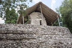 Estrutura de pedra antiga em ruínas maias de Coba, México Fotos de Stock