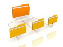 Estrutura de rede dos dobradores Fotografia de Stock Royalty Free