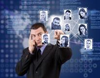 Estrutura de rede social Imagens de Stock