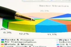 Estrutura de setor do mercado de valores de acção. Imagens de Stock Royalty Free