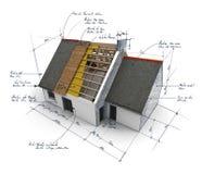 Estrutura de telhado ilustração do vetor