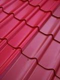 Estrutura de telhado colorida da lata Foto de Stock Royalty Free