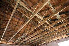 Estrutura de telhado de madeira Imagens de Stock Royalty Free
