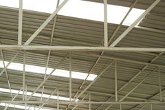 Estrutura de telhado do metal Fotografia de Stock Royalty Free