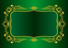 Estrutura decorativa do ouro Foto de Stock Royalty Free