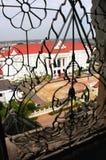 Estrutura decorativa em uma janela, Victory Gate Fotos de Stock Royalty Free