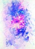 Estrutura decorativa floral com a mandala do teste padrão do filigrane no fundo abstrato Efeito do inverno Foto de Stock Royalty Free